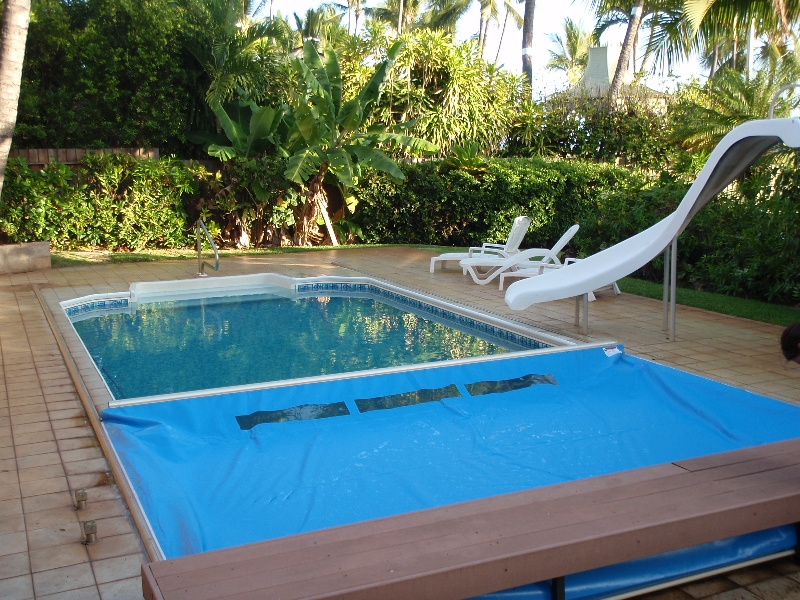 Pool covers beachcomber lethbridge hot tubs pool and - Covering a swimming pool with decking ...