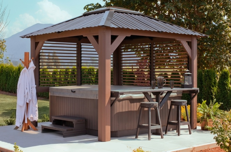 Visscher gazebo beachcomber lethbridge hot tubs pool and patio - Enclosed gazebo models ...